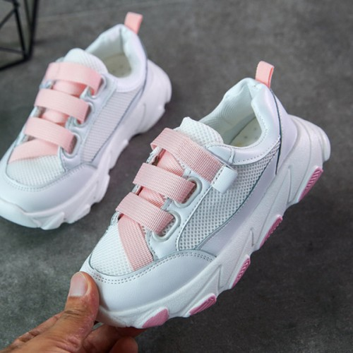 Ribbon Soft Base Kids And Girls Casual Sneakers - Pink