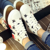 Influx Heavy Bottom Casual Sports Canvas Sneakers White