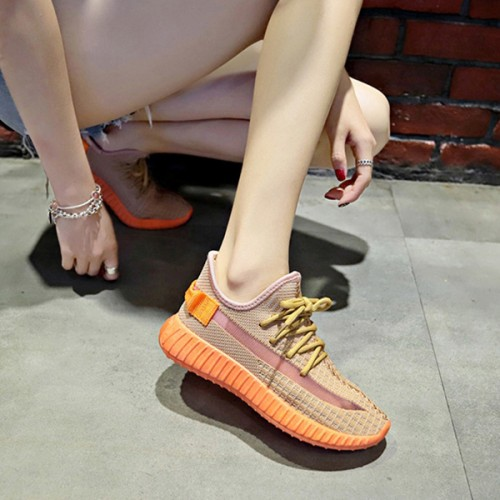 Breathable Casual Summer Running Sports Sneakers - Orange