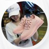 Laced Mesh Pattern Sports Running Sneakers - Pink