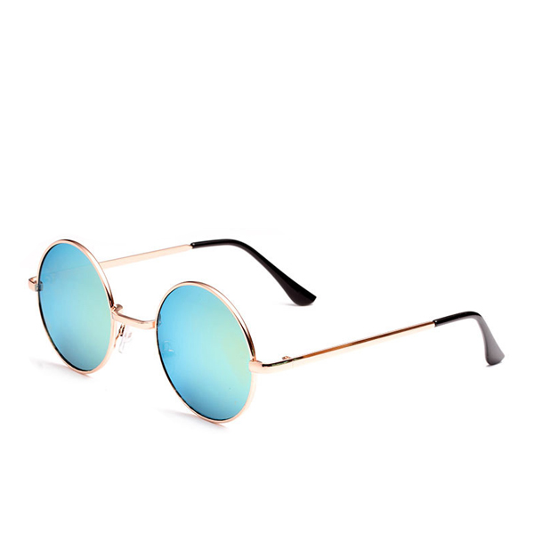 New Famous Round Sunglasses Light Blue For Unisex