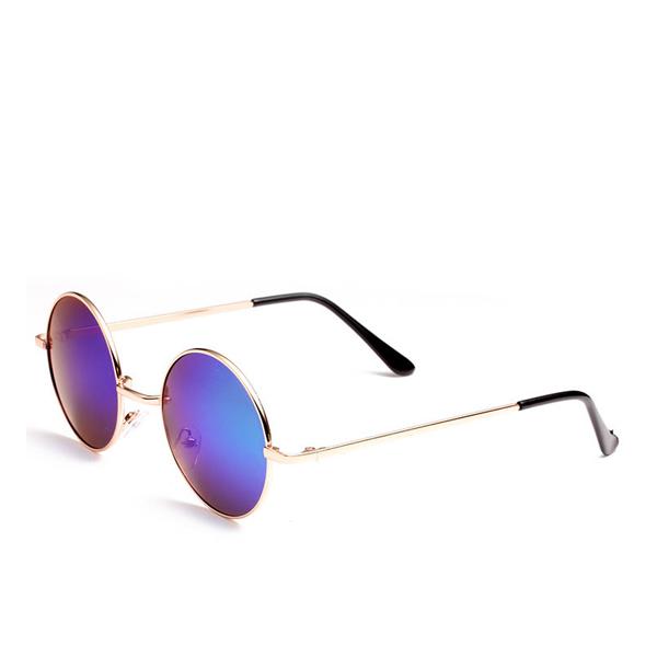 New Famous Round Sunglasses Purple For Unisex