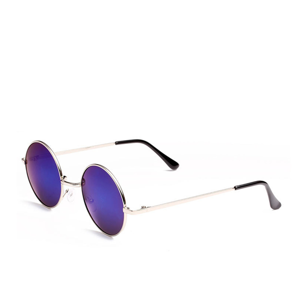 New Famous Round Sunglasses Blue For Unisex