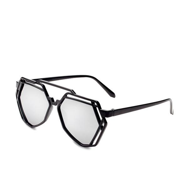 New Black And White Hepta Shaped Sunglasses For Unisex