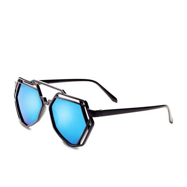 New Blue Hepta Shaped Sunglasses For Unisex