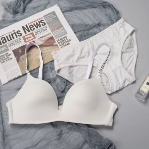 Padded Push Up Casual Wear Two Pieces Bra Set - White