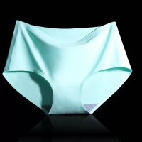 Solid Color Elastic Plain Casual Wear Underwear - Sea Green
