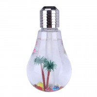 Tree Prints Golden Bulb Shaped Showpiece Lamp - Silver