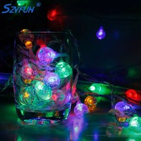 Round Shaped Fancy Multi Occasions Decorative Lights - Multicolor