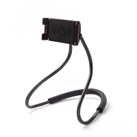Neck Holding Comfy Easy Foldable Mobile Hook Stand - Black