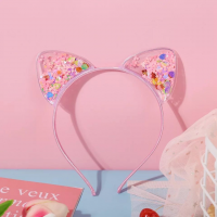 Cute Cartoon Ear Design Hair Band For Kids - Pink