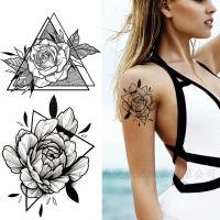 Floral Printed Easy Moisture Applicable Tattoo  - Design 78