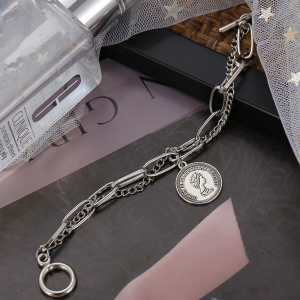 Silver Plated Hooked Closure Bracelet - Silver