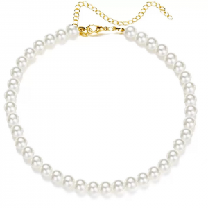 Pearl Decorative Choker Style Necklace - 8mm