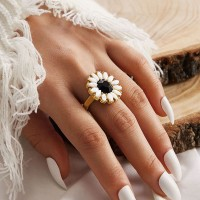 Crystal Floral Womens Gift Fashion Rings