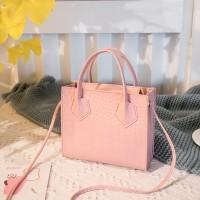 Textured Zipper Closure Fancy Women Fashion Handbags - Pink