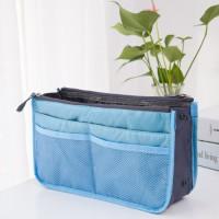 Nylon Zipper Mesh Traveller Bags - Blue