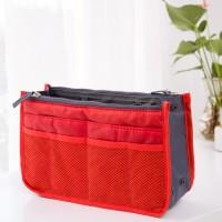 Nylon Zipper Mesh Traveller Bags - Red
