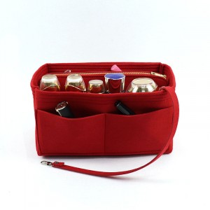 Canvas Traveller Fancy Solid Color Storage Bags - Red