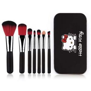High Quality Seven Pieces Women Fashion Makeup Brushes Set - Black