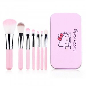 High Quality Seven Pieces Women Fashion Makeup Brushes Set - Pink