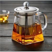 Stainless Steel Easy Pouring Herbs Sieve Glass - 750ml