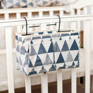 Easy Side Table Hanging Canvas Covered Rack - Blue