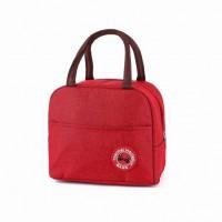 Zipper Closure Fancy Canvas Handheld Traveller Bags - Red