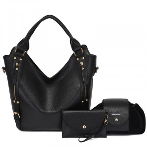 Synthetic Leather Vintage Style Solid Color Handbags Set
