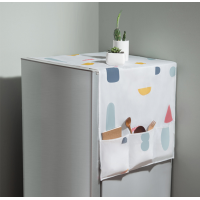 Canvas Printed Multi Purpose Fridge Storage Cover - White