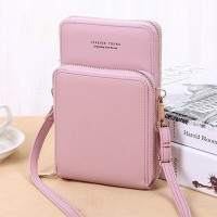 Zipper Closure Synthetic Leather Travel Bags - Pink