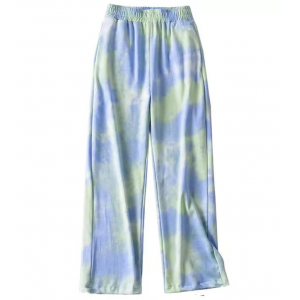 Camouflage Elastic Waist Casual Wear Trousers - Blue