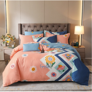 Rabbits Printed High Quality Soft Fabric Bed Sheets Set - 2m