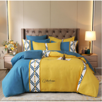 Bed Set Geometric Printed Contrast High Quality Bed Sheets Set - 2m