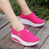 Hollow Sportswear Breathable Casual Sneakers - Hot Pink