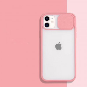 Slide Closure Camera Blurry Fancy Protective Case Cover For iPhone - Pink
