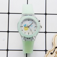 Waterproof Luminous Silicone Sports Kids Watches - Green