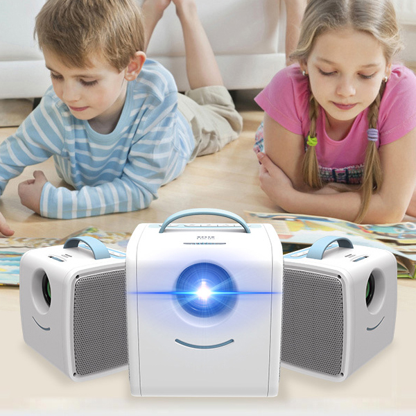 Wireless Portable Clear Screen Mini Projector - Sky Blue