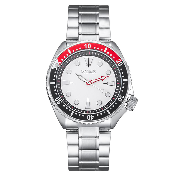 Silver Strapped Water Resistant Wrist Watch - Multicolor