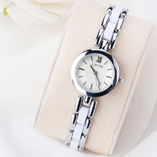White Silver Stainless Steel Analogue Watch