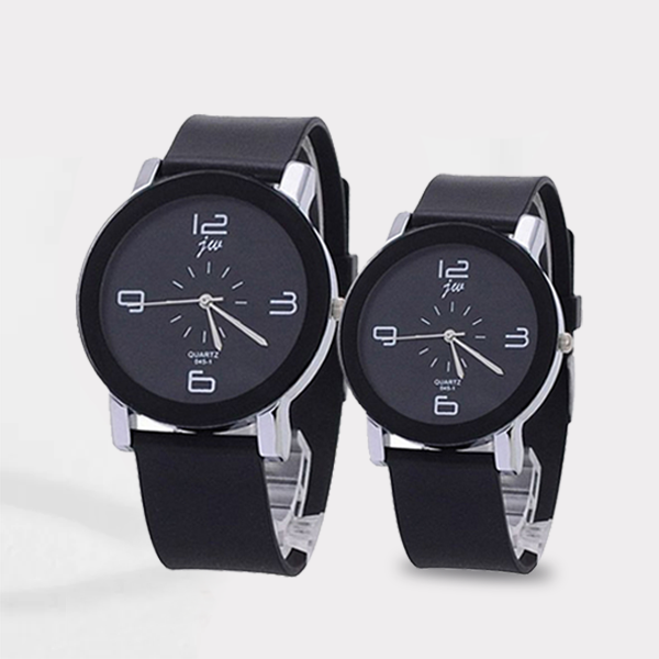 Analogue High Quality Couple Black Wrist Watch