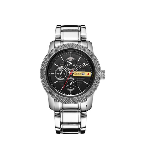 Top Brand Curren Watches Waterproof Wristwatch For Men Black