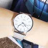 Mesh Strappy Formal Analogue Wrist Watch - White Dial