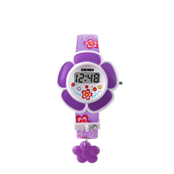 Floral Purple Cartoonish Kids Digital Watch