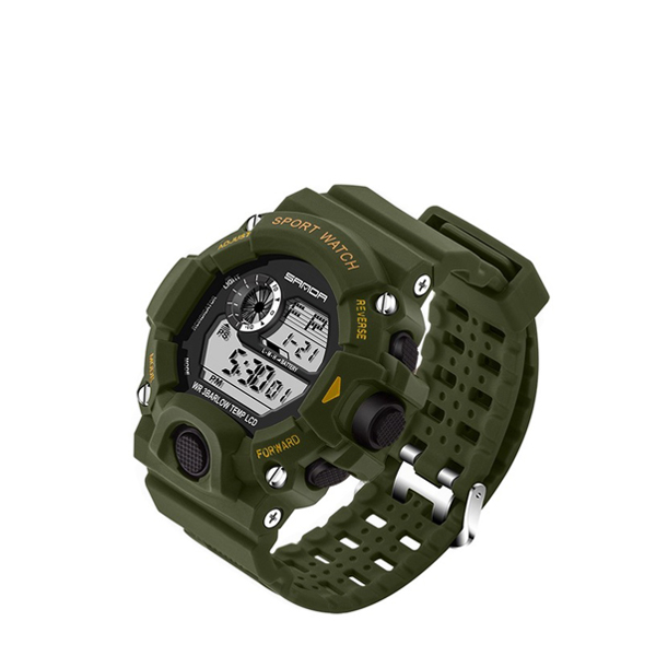 Digital LED Sports Wrist Watch - Green