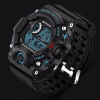 Digital Sports Blue LED Black Wrist Watch