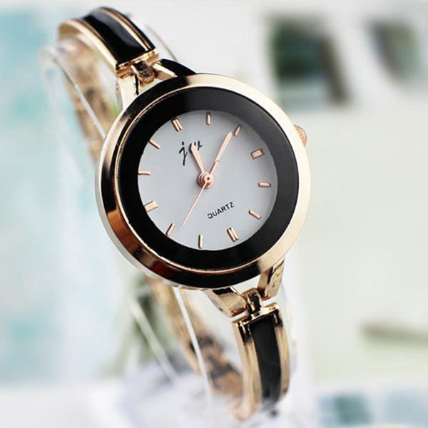 Golden Black Border Dial Wedding Wrist Watch