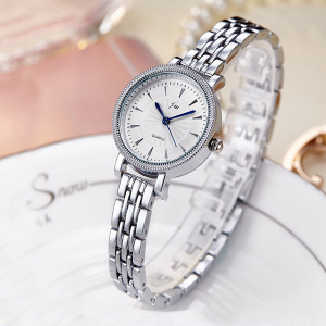 Silver Stainless Chain Strappy Wrist Watch