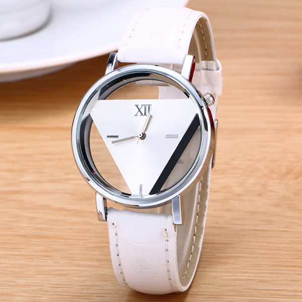 Triangular Dial Modern White Watch