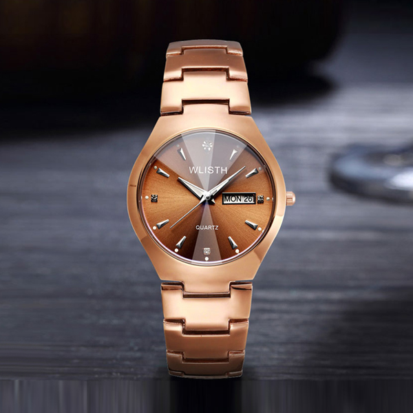 Stainless Luxury Formal Analogue Watch - Rose Gold